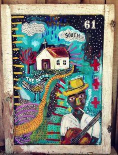 Delta Blues Folk Art Outsider Art - pinned by pin4etsy.com
