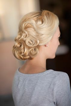 Retro Glam hair for prom,wedding, or special occasion #promhair