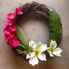 Wreath | 20 Tropical Decor Ideas To Make Every Day Feel Like An Island Vacation | Bustle