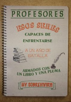 Libreta profesores, esos seres... Facebook: https://www.facebook.com/pages/Crockreando/435273939883012?ref=tn_tnmn Artesanum: http://www.artesanum.com/buscar-crockreando-1-1.html Etsy: http://www.etsy.com/es/shop/TarjetasCrockreando?ref=ss_profile