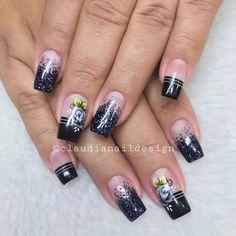 💕 Unhas em gel com arte encapsulada 😍 Mais informaçõe Coffin Nails Long, 3d Nails, Nails Inspiration, Nail Colors, Nail Art Designs, My Favorite Things, Pints, Nara, Beauty