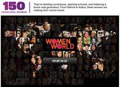 150 Women who Shake the World  http://www.thedailybeast.com/features/150-women-who-shake-the-world.html