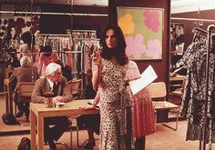 1976: DVF at work in her studio
