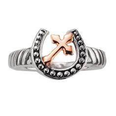Montana Silversmiths Horseshoe Ring