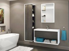 Obe by Vanico Maronyx. Clean contemporary and competitively priced. Bath Fixtures, Condo, Bathtub, Vanity, Mirror, Cottage Ideas, Furniture, Cape, Bathrooms