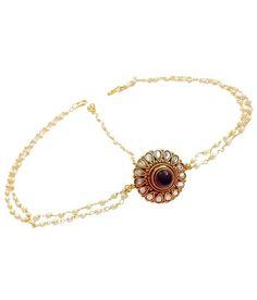 Loved it: Divinique Jewellery Elegant Gold Finish Polki Maang Tika,