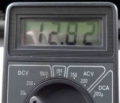 Entry level digital meter used for automotive diagnosis.