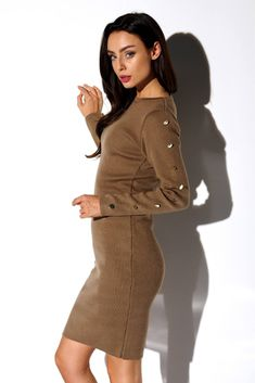 High Neck Dress, Brown, Sweaters, Casual, Dresses, Products, Fashion, Day Dresses, Ootd