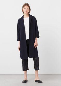 Lapel shift coat - Coats for Woman | MANGO Canada