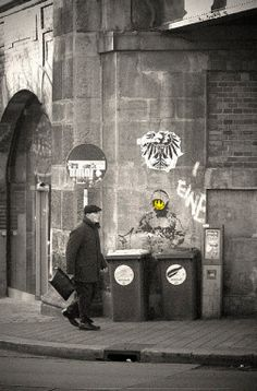 Banksy's art is stunning and edgy because of it's illegality; a paragon of bridging the line between art and the street.