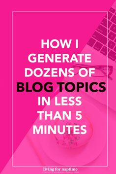 Got writer's block? Use this simple technique to generate dozens of blog posts for any niche! Great for nonprofits and small businesses looking to start a blog or blog more consistently