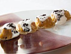 Recette de ravioles de foie gras, crème foisonnée truffée par Guy Martin