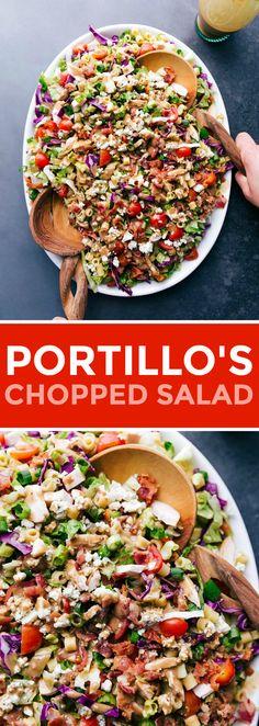 Chopped Salad Recipes, Best Salad Recipes, Salad Recipes For Dinner, Dinner Salads, Healthy Recipes, Chopped Salads, Portillos Chopped Salad Dressing Recipe, Balsamic Salad Recipes, Cabbage Salad Recipes
