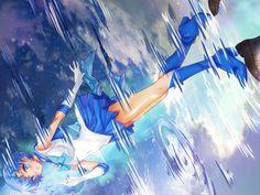 Sailor Mercury 雨上がりの美少女腹戦士マーキュリー by アリオンキャンバス on pixiv
