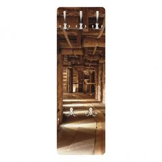 #Wandgarderobe   Alte Goldmine   Garderobe Braun #Holzoptik #Holz  #Dekoration #Natur
