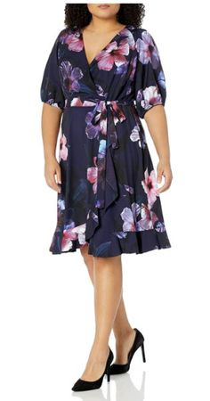 9 plus size floral dresses for formal events Plus Size Dress Outfits, Curvy Girl Outfits, Casual Dresses, Short Dresses, Dresses For Formal Events, Straight Cut Dress, 1950s Fashion Dresses, Plus Size Kleidung, Curvy Dress