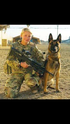 Female Warrior with K9