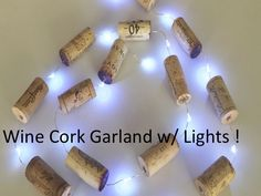 Christmas Lights, Wine Cork Garland, Christmas Tree Decor, Christmas Decoration, Wine Gift, Wine Themed Gift by MaxplanationPhotos on Etsy