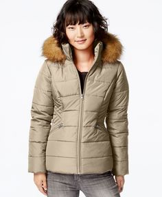 Krush Faux-Fur-Hood Puffer Jacket