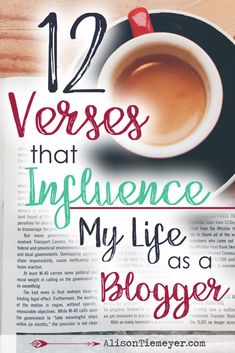 Blogging for the gospel can seem difficult, overwhelming, and downright fragile sometimes. We hear advice about blogging from so many sources, and oftentimes don't know what to believe. Thankfully we have truth to encourage us to live differently, to love well, to sacrifice daily, and to be about something greater than ourselves. These twelve verses for bloggers will comfort your soul and offer some much needed truth to encourage the challenges of blogging!