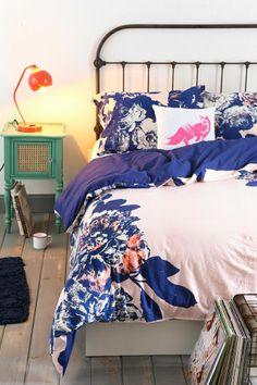 Plum & Bow Corner Floral Duvet Cover