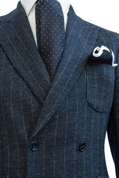 #Striped Wool and Cotton #Doublebreasted #Jacket - #MONTEZEMOLO