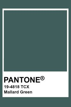 Pantone Mallard Green Paleta Pantone, Pantone Tcx, Pantone Color Chart, Pantone Colour Palettes, Paint Color Schemes, Colour Pallete, Pantone Green, Color Palette Challenge, Colour Board