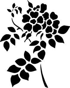 ::ARTESANATO VIRTUAL - Tecnicas de Artesanato | Dicas para Artesanato | Passo a Passo:: Stencils, Stencil Painting, Fabric Painting, Stencil Patterns, Stencil Designs, Applique Designs, Flower Outline, Floral Drawing, Silhouette Vinyl