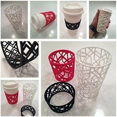 Custom Sleeve for Coffee and Tea Cups by sethmoser. - Printer Pen - Ideas of Printer Pen - Custom Sleeve for Coffee and Tea Cups by sethmoser. 3d Printing Diy, 3d Printing Business, 3d Printing Service, Impression 3d, Imprimente 3d, Boli 3d, 3d Drawing Pen, 3 D, Stylo 3d