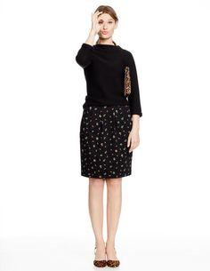 Soft printed skirt WG571 Mini at Boden
