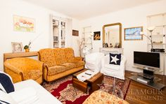 Comfortable nice two-bedroom Paris flat at Rue Monttessuy