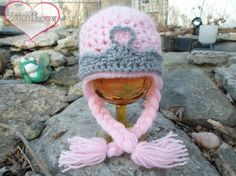 FREE Crochet Pattern!!!  Newborn Princess Hat With Braids
