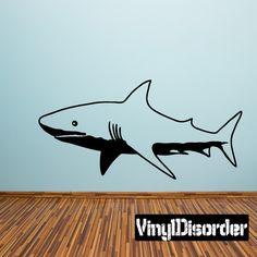 Shark Wall Decal - Vinyl Decal - Car Decal - 006