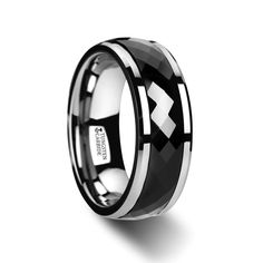Items similar to Personalized Polished Diamond Faceted Black Ceramic Spinner Ring, Black Wedding Band, Ceramic Band, Wedding Ring Ceramic Rings, Bands on Etsy Tungsten Jewelry, Tungsten Wedding Rings, Triton Rings, Bridal Ring Sets, Spinner Rings, Black Rings, Ceramics, Diamond, Wedding Bands