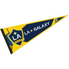 LA Galaxy Pennant is our Full Size MLS soccer team pennant which measures 12x30 inches, is made of felt, and is single sided screen printed...