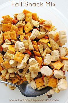 Fall Snack Mix 4 by lovebakesgoodcakes, via Flickr