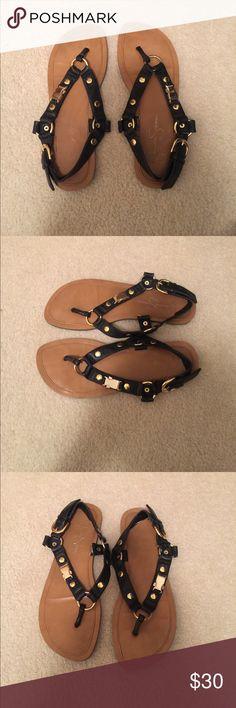 Jessica Simpson black sandals! Jessica Simpson black sandals! Size:7, Color: black, condition: used. Very cute! Jessica Simpson Shoes Sandals
