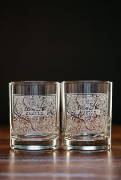 1f0f856478 Austin College Town Rocks Glass Set Bourbon And Boots