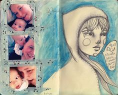 Years ago I started a Dylan and Elliot Journal with messages for them and photos etc. I loved creating it. Haven't had time to work in it for a while, but love looking back on it: http://www.willowing.org/2012/05/23/dylan-elliot-art-journal/