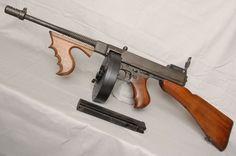 Firearms Thursday, Thompson Sub Machine Gun Jurassic, Hunting Rifles, Cool Guns, Assault Rifle, Military Weapons, Guns And Ammo, Shotgun, Firearms, Hand Guns