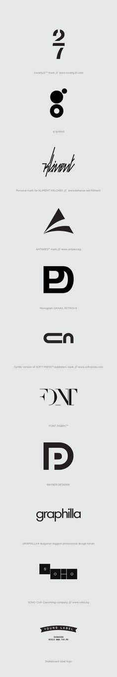 Marks, Symbols & Logos from the past few years.