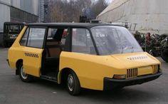 The ВНИИТЭ-ПТ, a Soviet taxi concept from 1964.