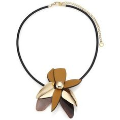 Marni Horn & Leather Pendant Necklace