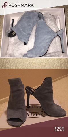Steve Madden Ice Blue Sooki Suede Pumps Beautiful suede pumps! Worn twice... Minor scuffing (shown in picture) Steve Madden Shoes Heels