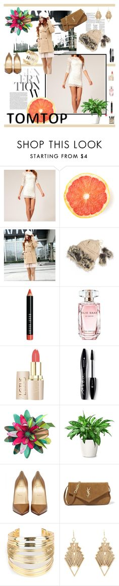 """""""Tomtop 7/30"""" by miranda-993 ❤ liked on Polyvore featuring Bobbi Brown Cosmetics, Elie Saab, Lancôme, MIHO, Yves Saint Laurent, WithChic, Charlotte Russe and tomtop"""