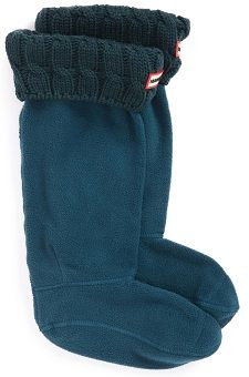 Coffee Break: Original Tall Cable Knit Cuff Welly Boot Socks