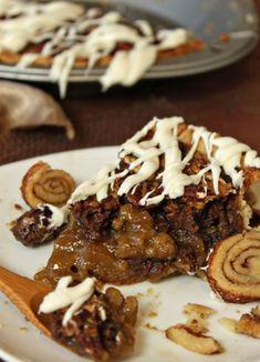 Cinnamon Bun Pecan Pie Recipe by Elizabeth LaBau