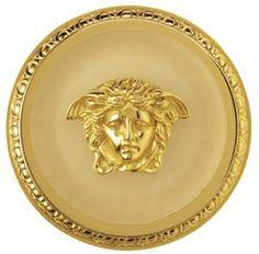 Bronze Wall Hanging Plaque Versace Logo Head of Medusa 10cm Diameter