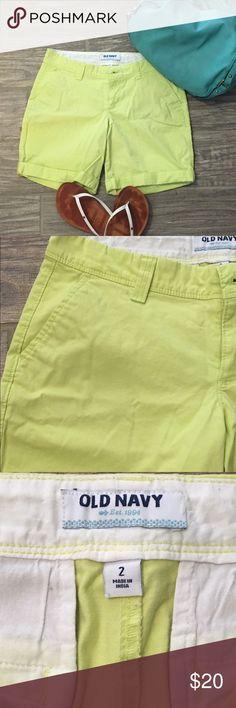 Old Navy Lime Green Bermuda Shorts Fun, summer shorts in lime green. New without tags. Old Navy Shorts Bermudas