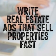 If you're doing business in real estate, one of the best skills you can learn is how to write real estate ads, headlines & listings that catch attention. Real Estate Ads, Real Estate Investor, Sell Property, Estate Agents, Flipping, Staging, Home Projects, Writing, Business